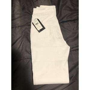 High Waisted Skinny Jeans- White